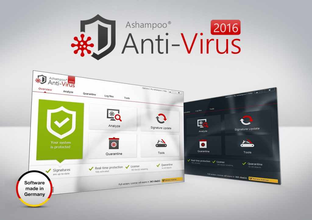 Ashampoo Antivirus registration key