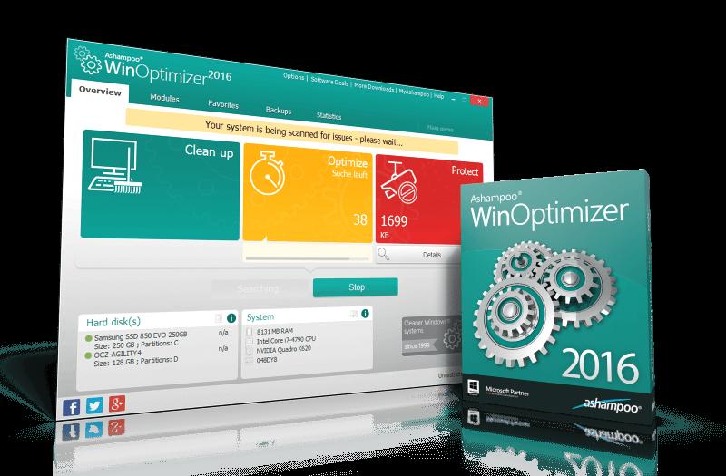 Ashampoo WinOptimizer 2017 keygen download