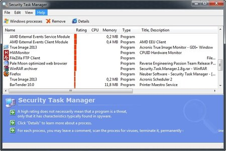 Security Task Manager serial number