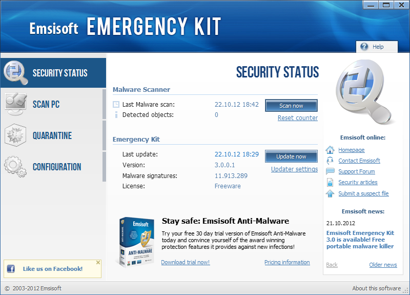 Emsisoft Emergency Kit license key