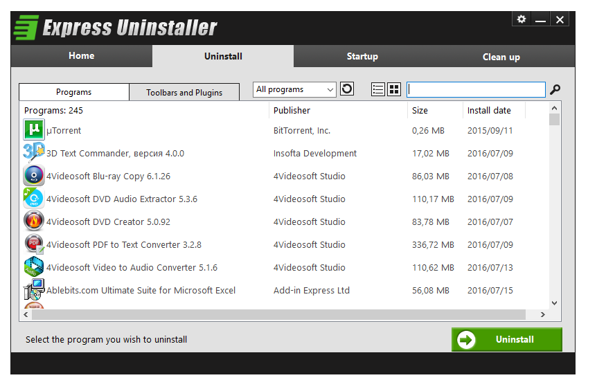 Express Uninstaller serial number