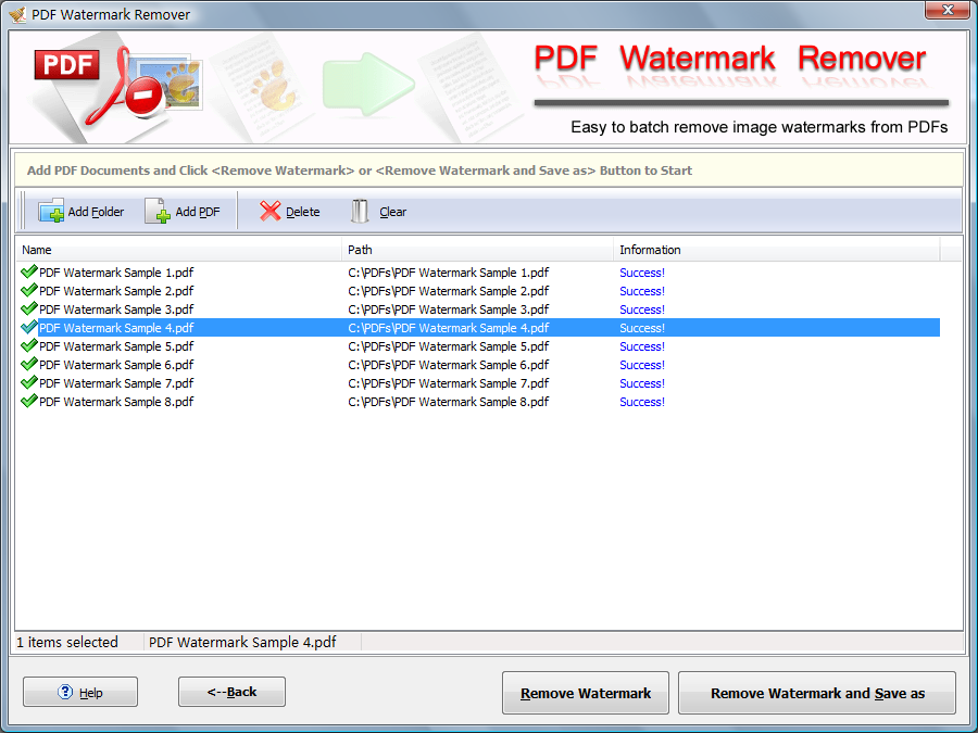PDF Watermark Remover free download