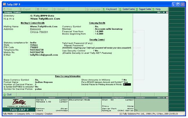 latest tally software free download full version