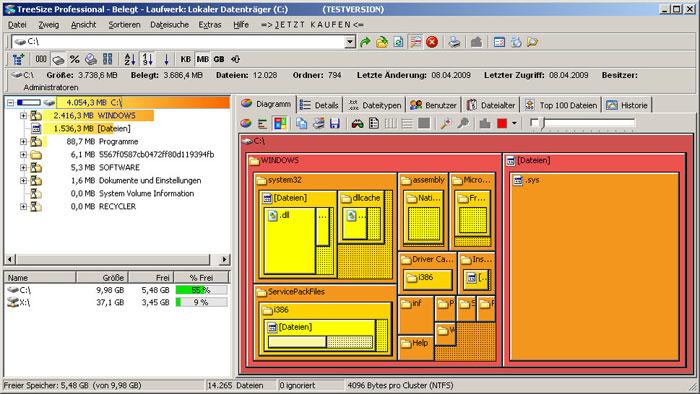TreeSize Professional free download