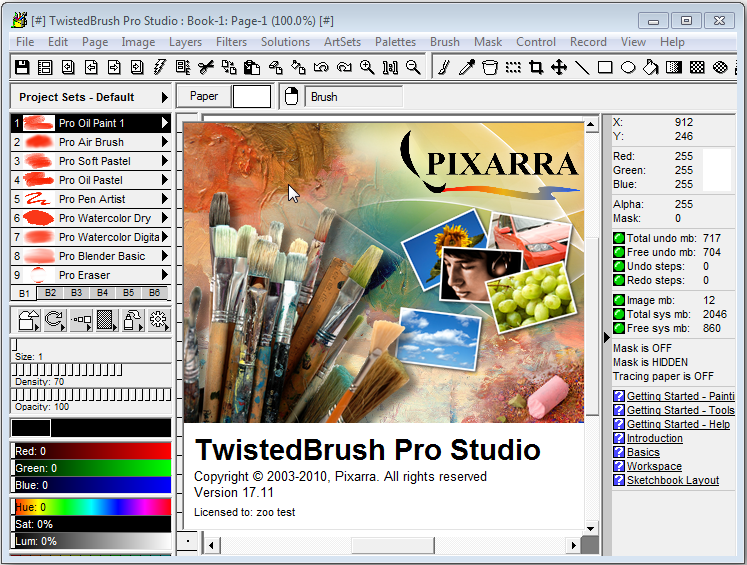 Pixarra TwistedBrush Pro Studio latest version