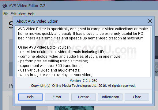 license key to activate avs video editor