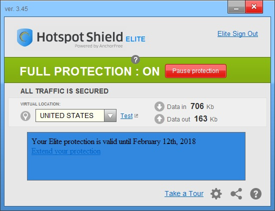 Hotspot Shield Elite VPN Cracked