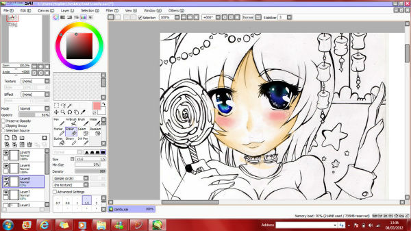 Rotate In Paint Tool Sai