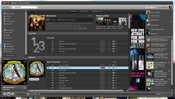 Spotify Music Player MAC
