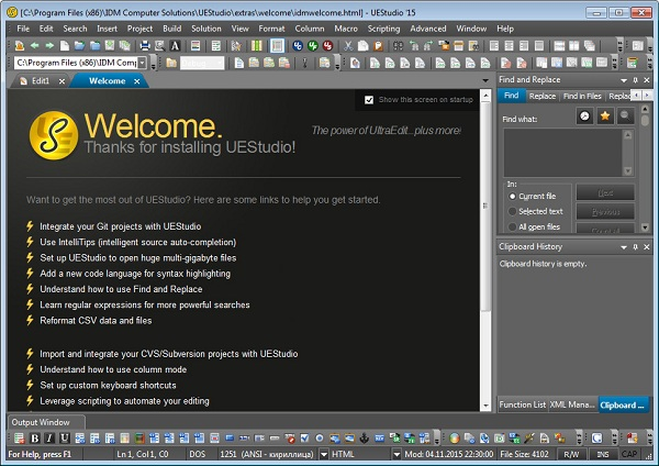 Download Free UEStudio Portable