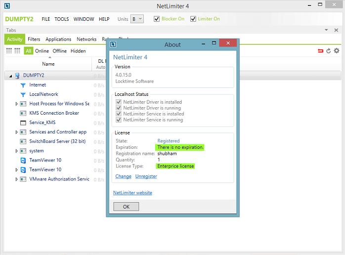 NetLimiter 4 Regostraton Code