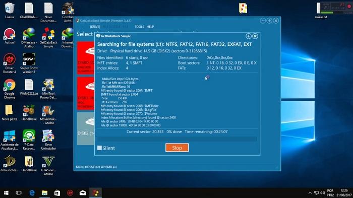 GetDataBack Simple Windows10